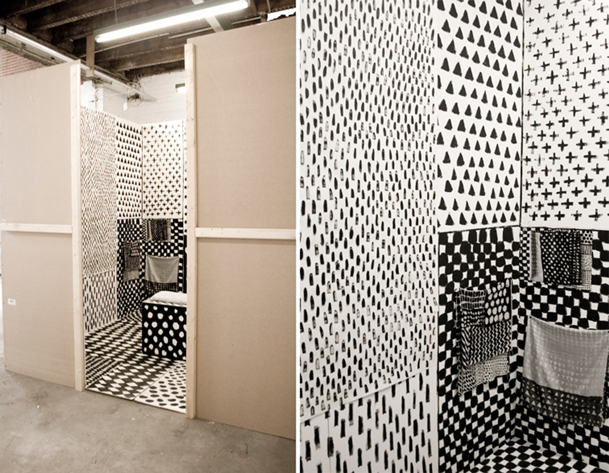 Black and white installation