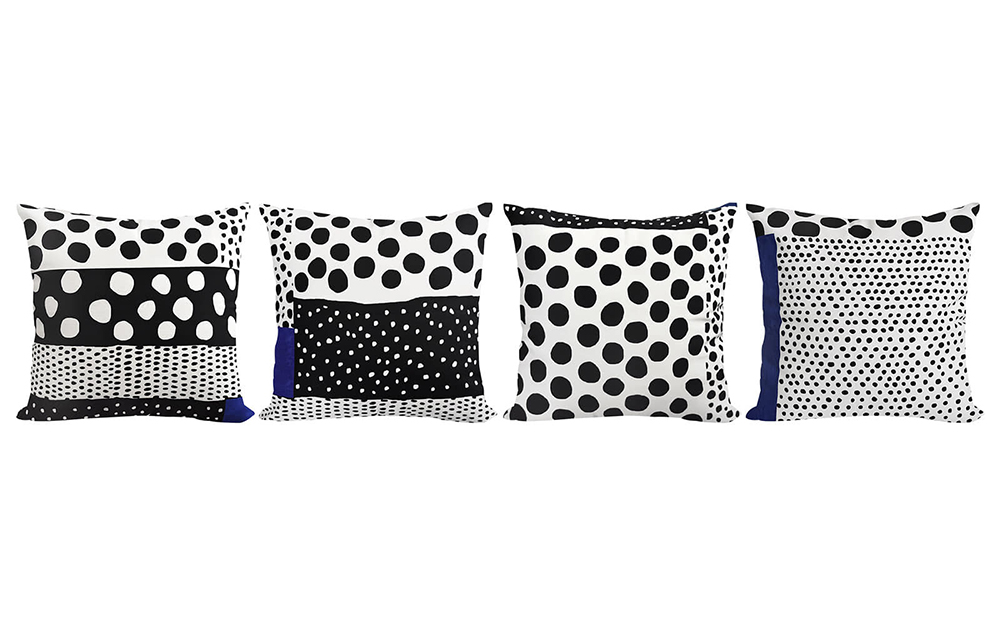 Four different patterns for cushions